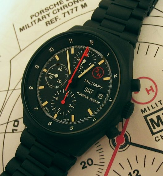 "Research project: Orfina/Porsche-Design ""MILITARY"" chronograph dial variations"