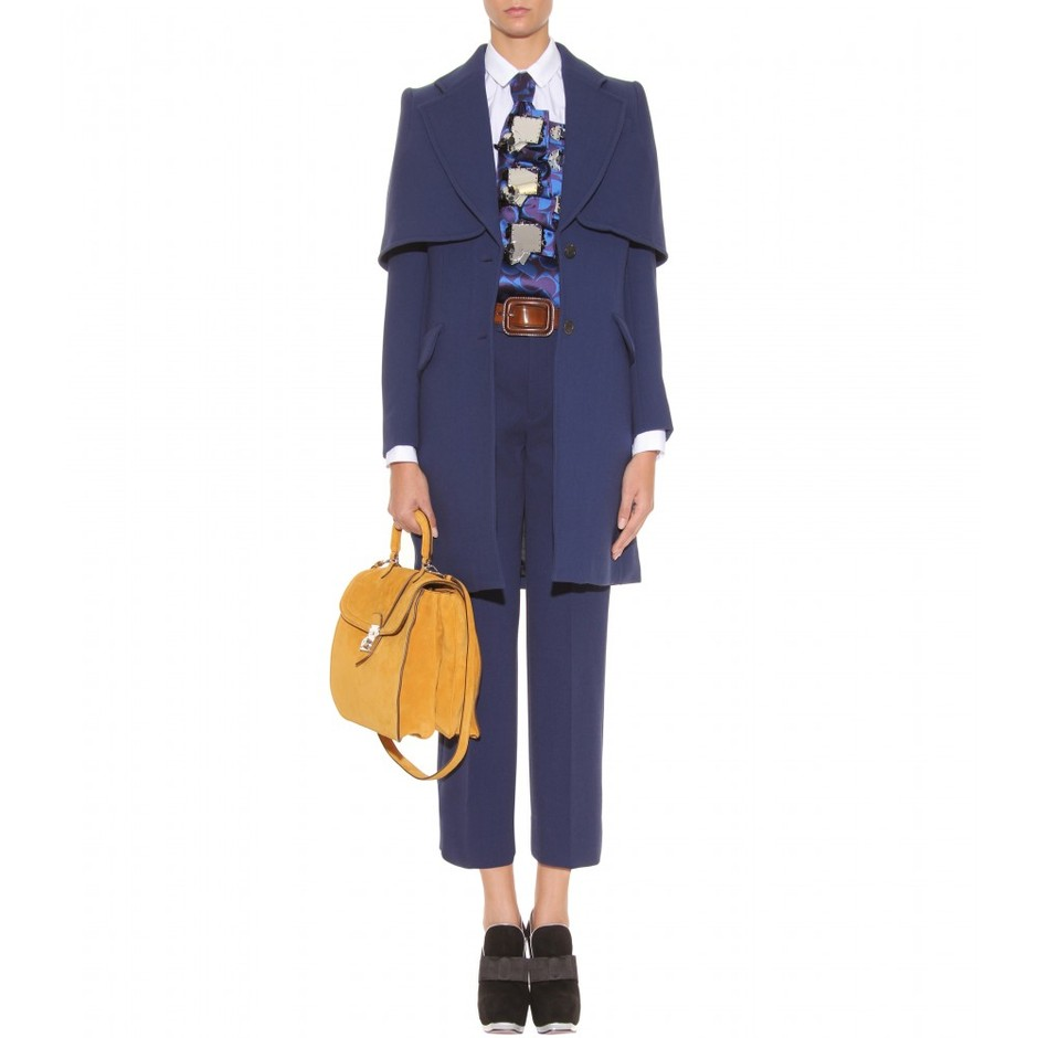 mytheresa.com - Miu Miu - COAT WITH CAPELETTE - Luxury Fashion for Women / Designer clothing, shoes, bags
