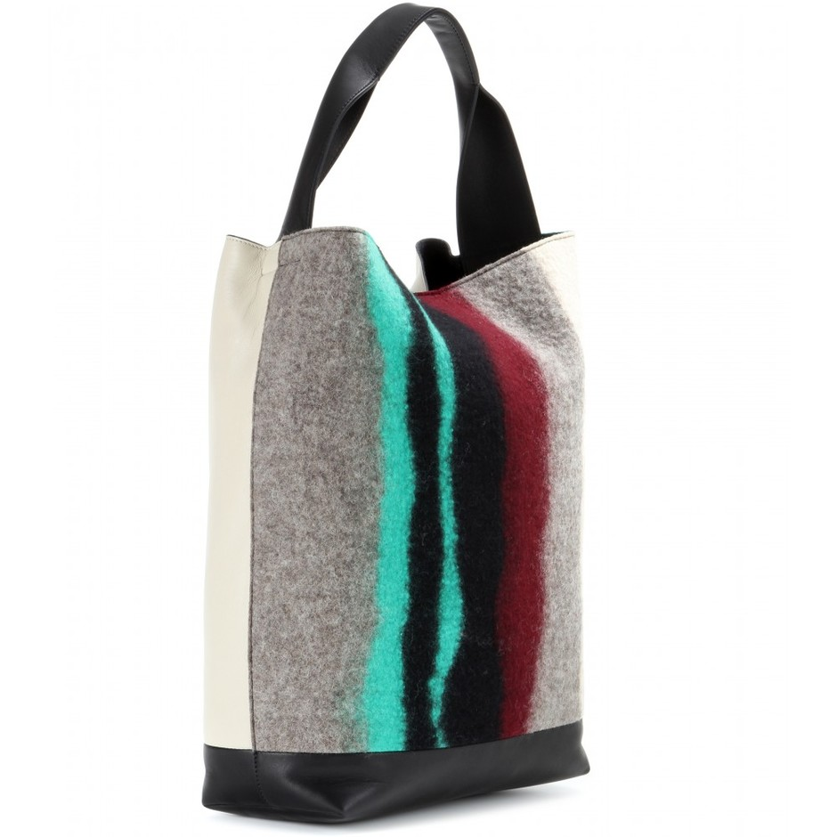 mytheresa.com - Felt and leather shopper - Shoppers - Bags - Luxury Fashion for Women / Designer clothing, shoes, bags