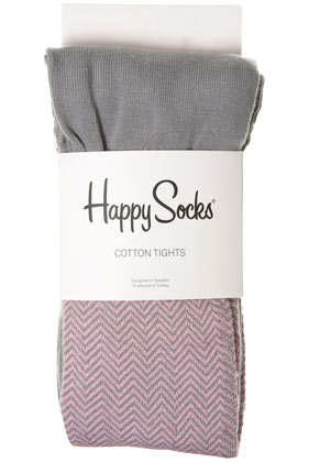 Purple Zig Zag Tights By Happy Socks - Topshop USA