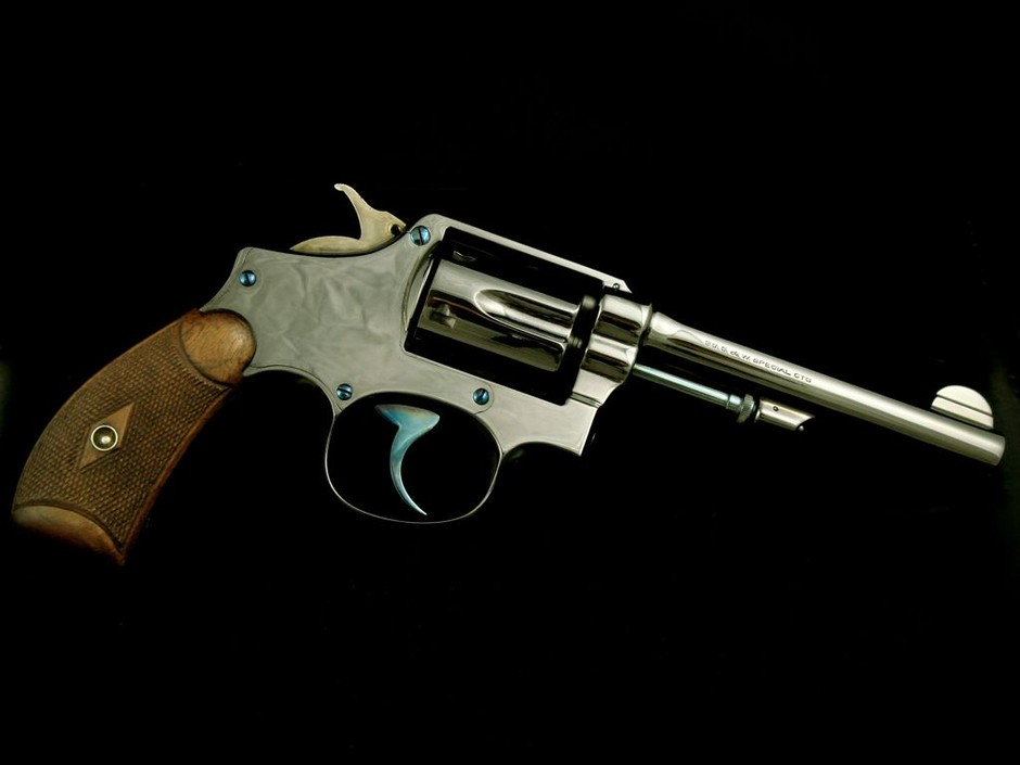 Mob Guns – worlds finest handguns - Custom Designs & Firearm Restoration - Fine Smith & Wesson New Departure Safety Hammerless Mob Guns Royal Blue Satin Nickel Pinto Bicycle Bright Nickel Model 36 Coco bolo and Royal Blue 1902 1st change all with fire blue accents Very custom and fine restoration S&W classics