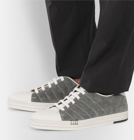 Berluti - Playfield Suede and Leather Sneakers