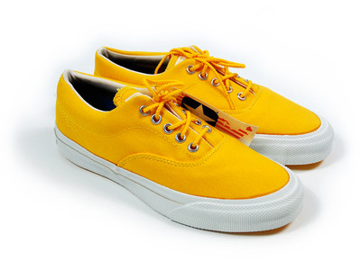 Vintage Deadstock Converse Skid Grip: Sunflower Yellow - Polyvore