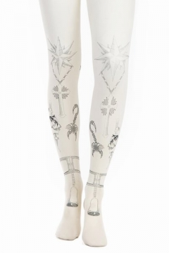 【LASO ラソ】Rodarte for Opening Ceremony Tattoo Tights - Off-White/Blue Black - RWA01 ロダルテ
