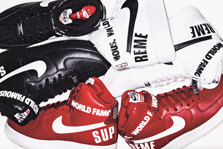 A First Look at the Supreme x Nike Air Force 1 Hi Pack • Highsnobiety