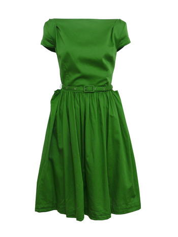 Sale - Vivienne Westwood - Anglomania Monroe-33 Green Dress at Coggles.com online store