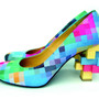 anrealage - anrealage LOW PIXEL PRINT PUMPS - セレクトショップ TITY 新潟から全国へ通販