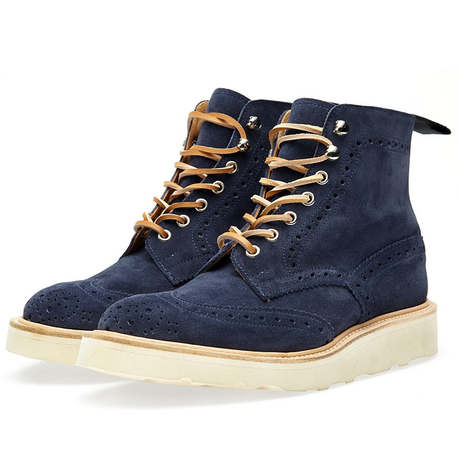 Tricker's x END. Vibram Stow Boot - City Pack (Shale Repello Suede)