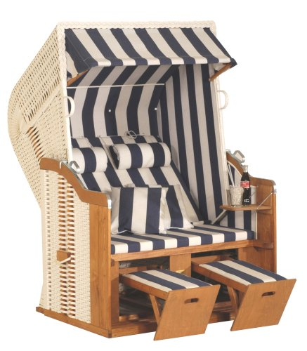 Amazon.com: Eurita Strandkorb Knight Blue & White Luxury Garden/beach Lounge Chair: Patio, Lawn & Garden