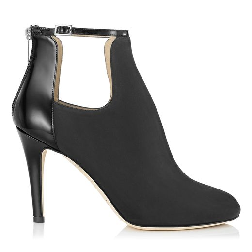 Black Grainy Suede and Patent Ankle Boots | Livid | Autumn Winter 14 | JIMMY CHOO Shoes