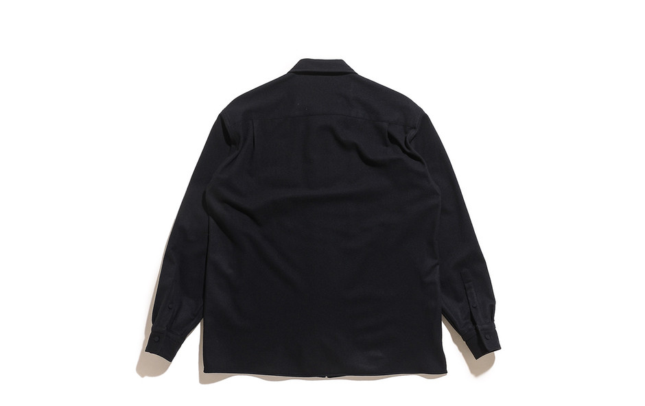 Super Soft Wool Flannel Zip Shirts-Black