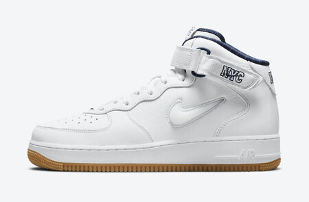 Air Force 1 Mid QS  Jewel NYC White Midnight Navy