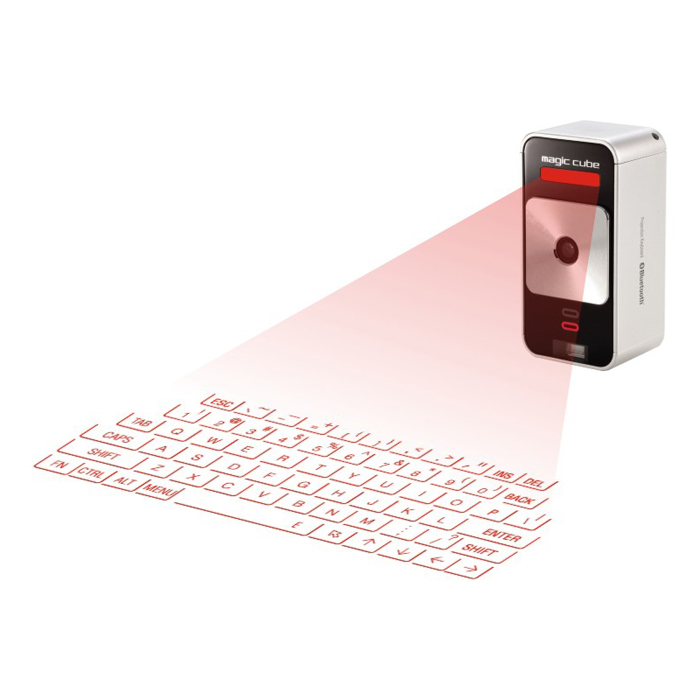 ThinkGeek :: Cube Laser Virtual Keyboard for iPad & iPhone