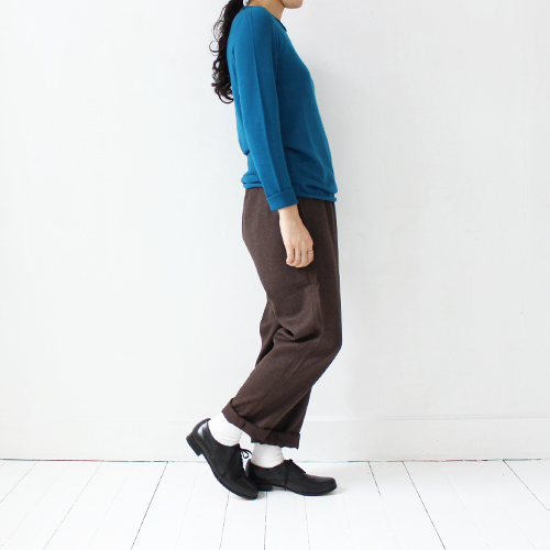 Charpentier de Vaisseau / Wool Easy Pants / Brown / シャルパンティエ・ドゥ・ヴェッソ - taste and touch ウェブショップ