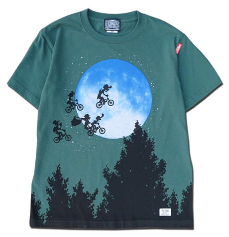 OVER THE MOON! T-shirts(FOREST GREEN)