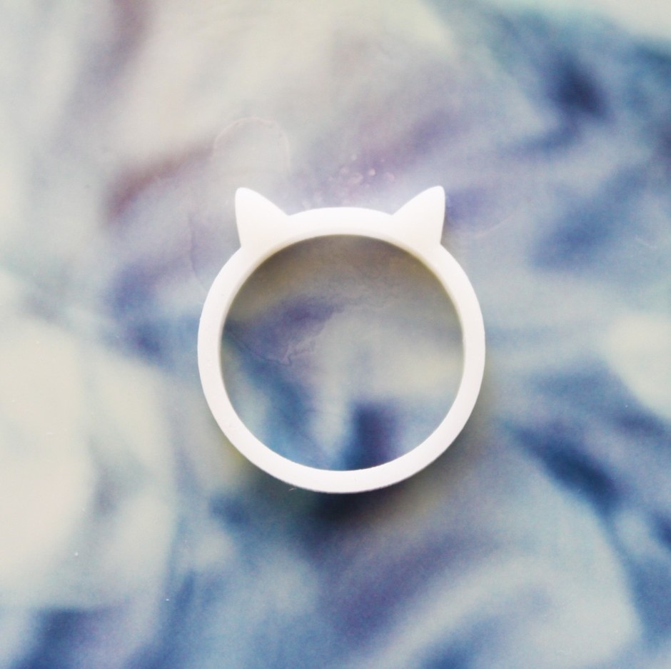 Kitty Cat Ring by iluxo on Etsy