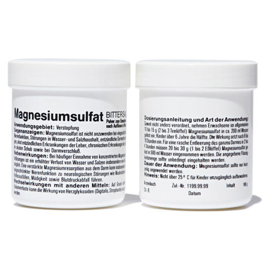 White jar for magnesium 100g | GENERAL VIEW