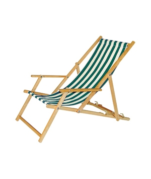 Striped Deckchair With Arms | 5 Outdoor Chairs to Kick Back In | Real Simple