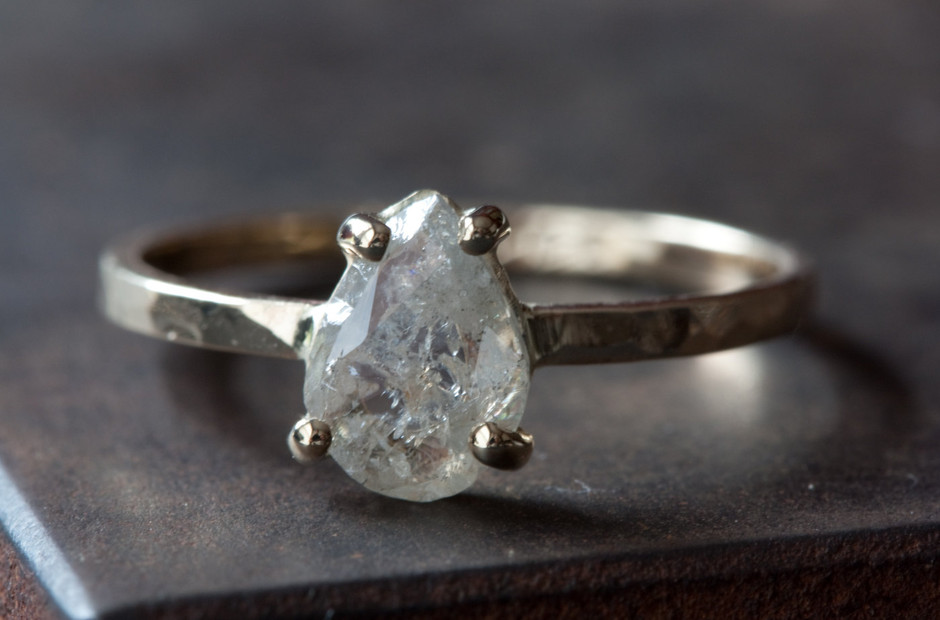 Prong Set Diamond Slice in 14kt Gold Engagement as by LexLuxe