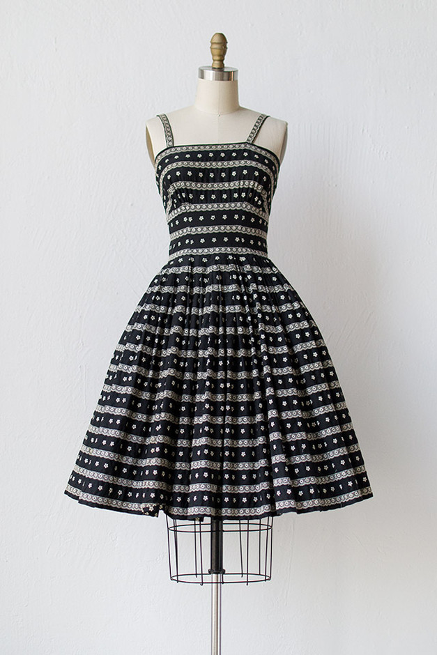 vintage 1950s black party dress with lace [Chancery Rows Dress] - $168.00 : ADORED | VINTAGE, Vintage Clothing Online Store