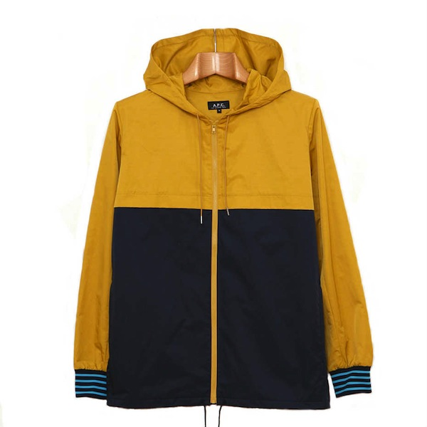 A.P.C Yellow Navy Jacket discount sale voucher promotion code | fashionstealer