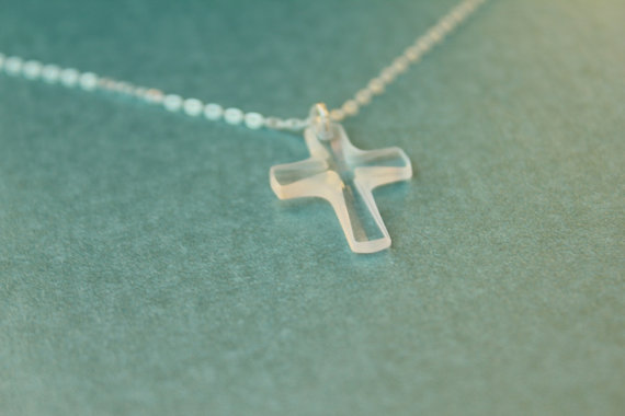 Swarovski Cross Large Size Sterling Silver by LiansElegance