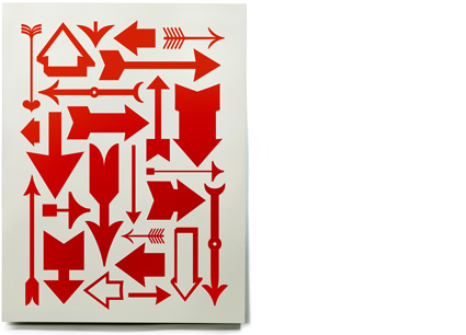 House Industries - Objects - Eames Arrows Red