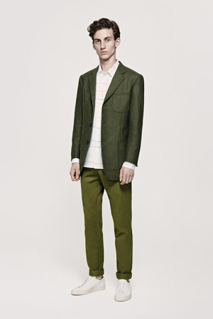 by Jaime Hayon. Lambswool Twill Jacket (Green)