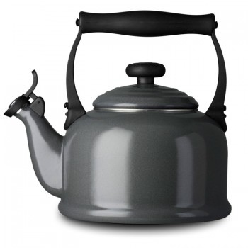 "Le Creuset ""Granite"" Traditional Kettle with Whistle - Teddingtons"