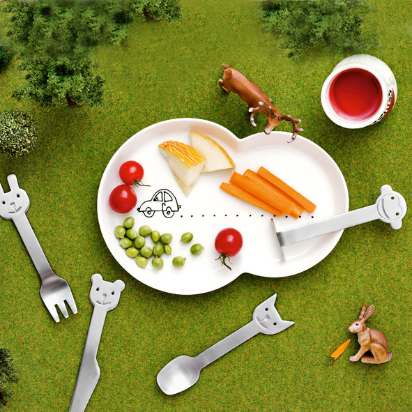 Animal Friends cutlery set | Gense stainless steel flatware set | Wannekes.com