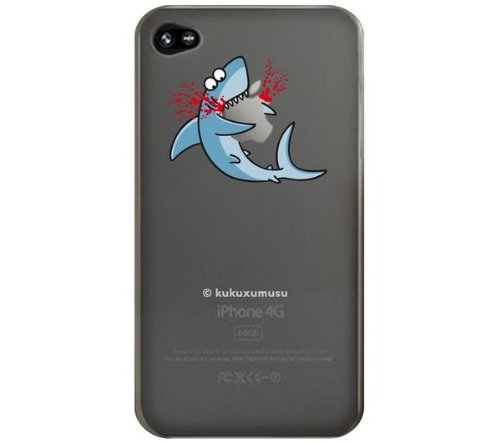 Kuku Shark Eater Case for iPhone 4 - Clear: Amazon.co.uk: Electronics
