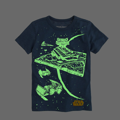 Kids' Star Wars™ for crewcuts tee in glow-in-the-dark starship : glow-in-the-dark tees | J.Crew