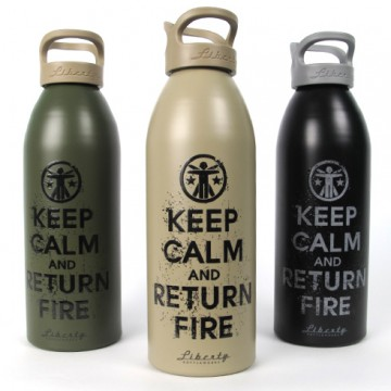 Keep Calm and Return Fire Liberty Bottle 2.0 - Soldier Systems - Tactical Distributors- Tactical Gear