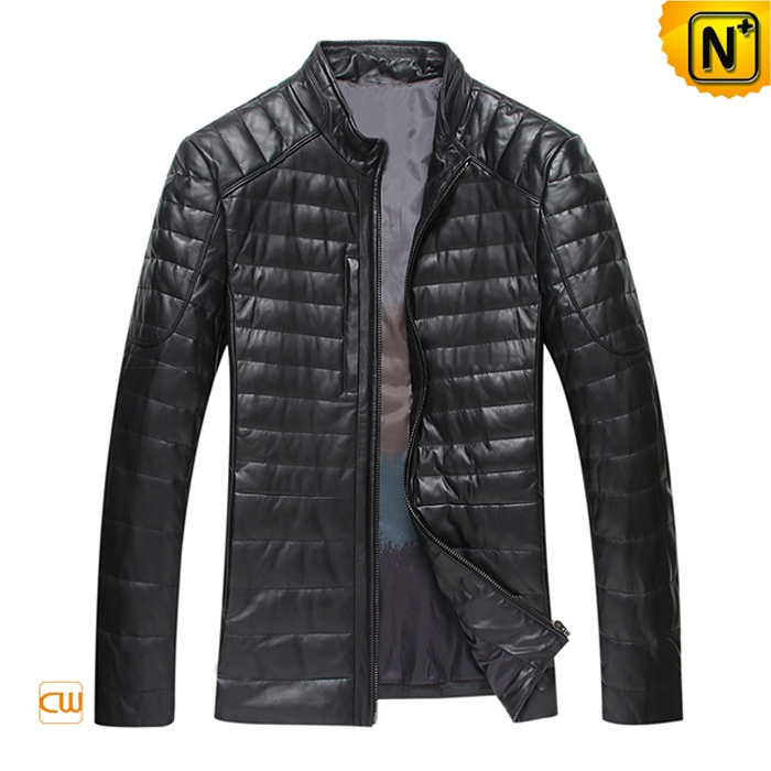 Winter Leather Down Fill Jacket for Men CW804035
