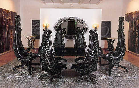 """The official WebSite of H.R.Giger-Exhibitions """"Furniture from the Giger-Bar"""