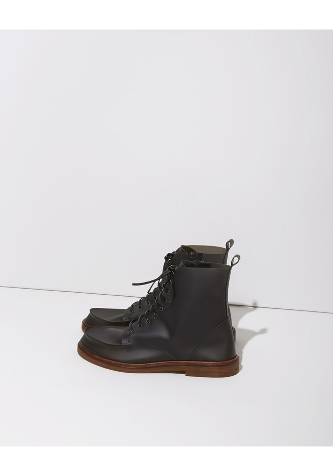 MM6 by Maison Martin Margiela Lace-Up Rain Boot | La Garçonne