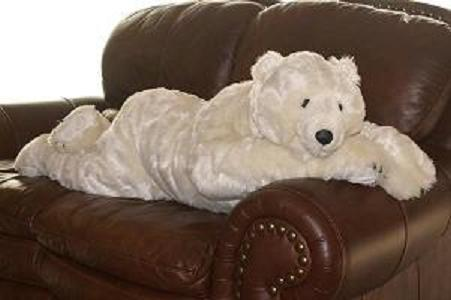 40239 Polar Bear 48 inch Stuffed Animal Body Pillow by Ditz Designs - Rustic Home Heirlooms LLC