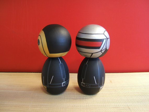 Kokeshi dolls. Custom Daft Punk inspired basic version by temple7e