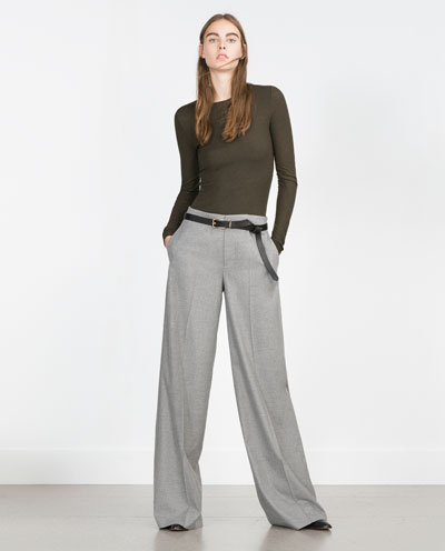 WIDE LEG TROUSERS - Wide - Trousers - WOMAN - SALE | ZARA United States