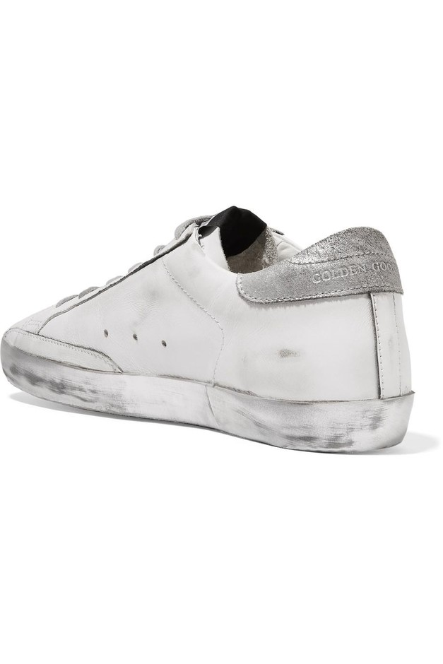 Golden Goose Deluxe Brand | Super Star distressed leather sneakers | NET-A-PORTER.COM