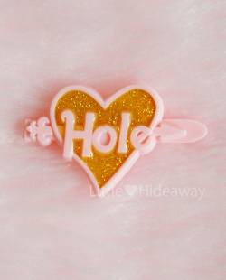 """SOLD OUT - 1990's """"Hole:Courtney Love"""" GLITTER HEART BARRETTE:PINK【DEAD-STOCK♡】 - Little ♥ Hideaway 〜ヴィンテージから現代まで〜 Candy Hearts♡USA & UK 輸入雑貨"""