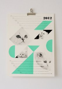 fieldguided — dreamcats 2012 calendar in mint or peach