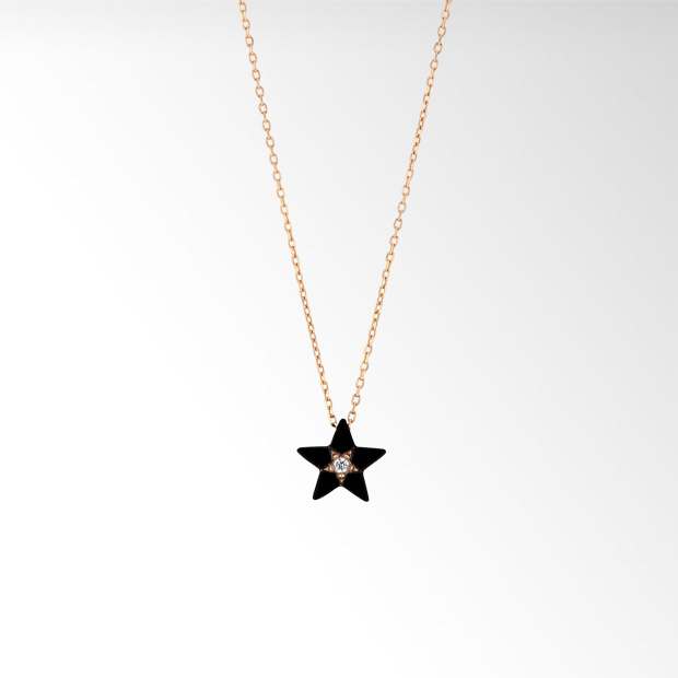STAR JEWELRY |STAR ENAMEL NECKLACE: ネックレス