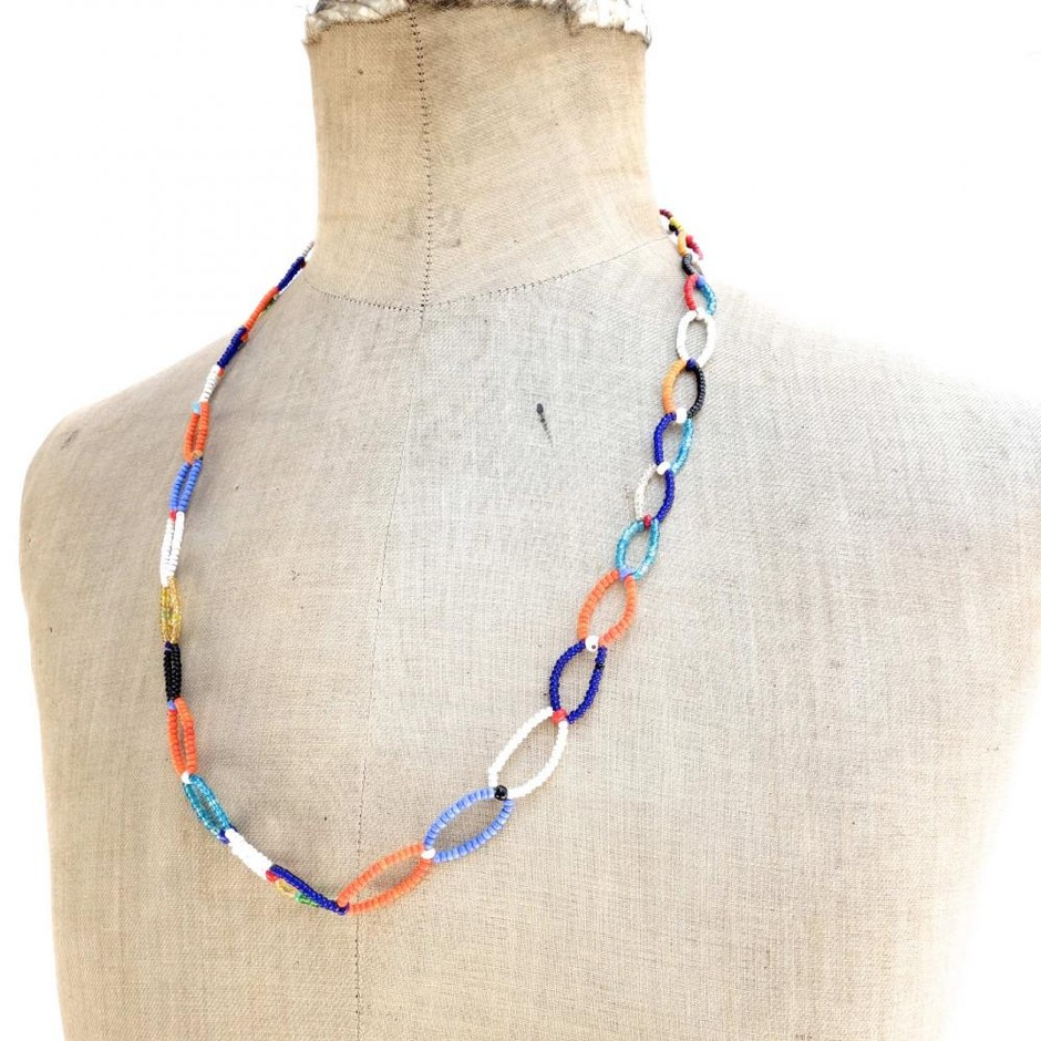 VINTAGE NECKLACE ビーズネックレス - RUMHOLE beruf online store