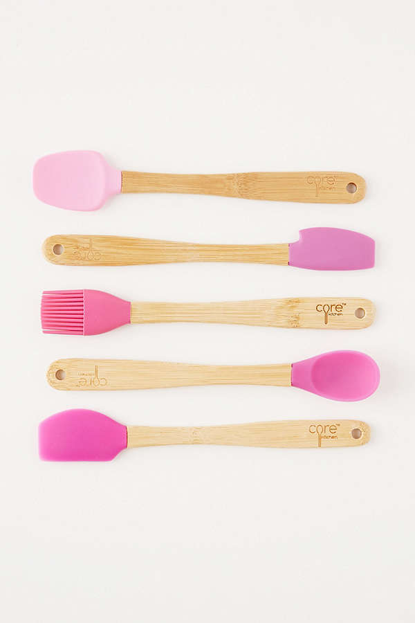 Core Bamboo Mini Silicone Cooking Utensil Set | Urban Outfitters Canada