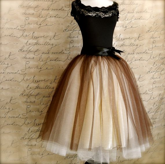 Brown and cream tutu for women. One of our popular tulle skirts, now …