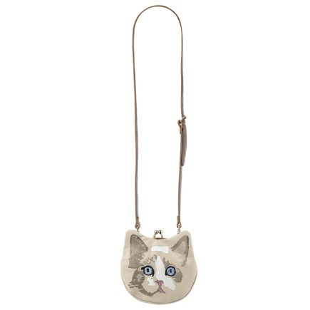 Cat Pouch Cream S/S 2013 by Lie Down I Think I Love You, London