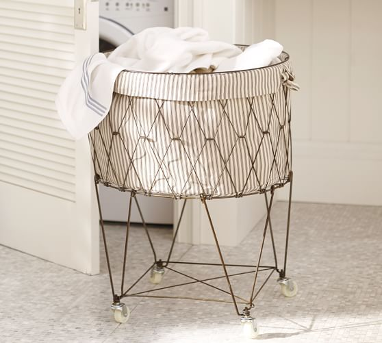 French Wire Hamper & Liner   Pottery Barn
