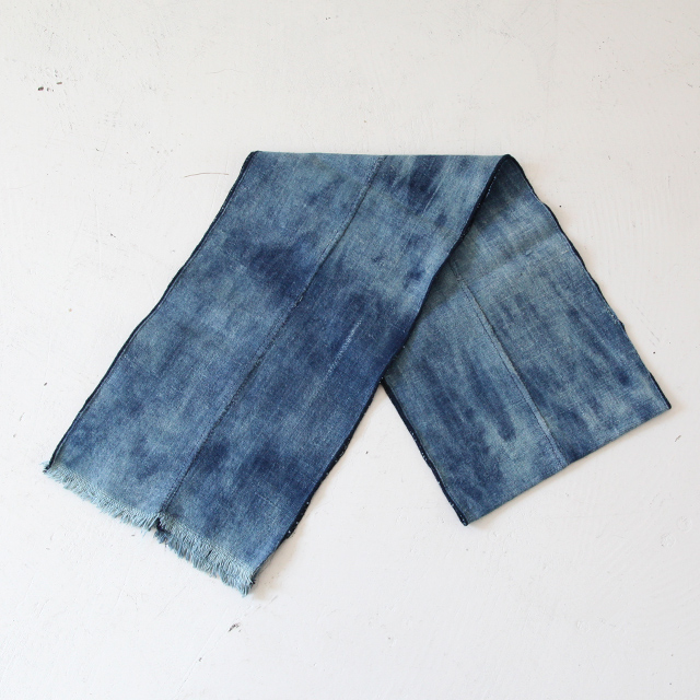 Vintage&Blanket African Indigo Fabric Stole - Solid - Silver and Gold Online Store