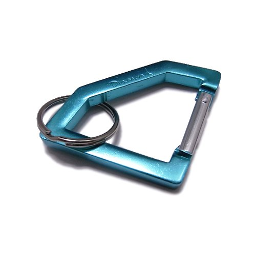 DIAMOND SUPPLY CO. - Diamond Carabiner Rock Keychain (Diamond Blue/Silver) - Growth skateboard elements